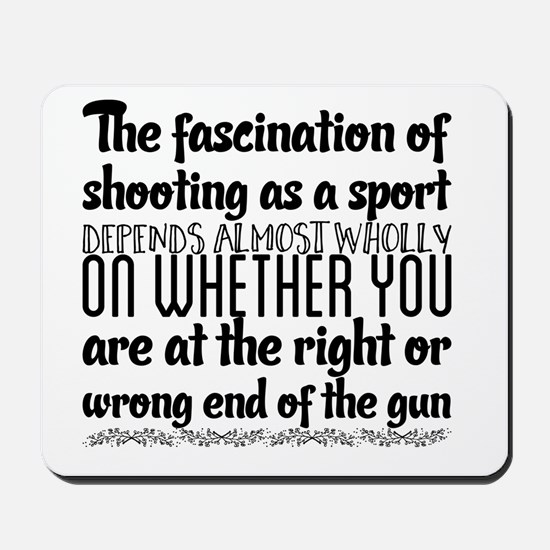The fascination of shooting as a sport d Mousepad