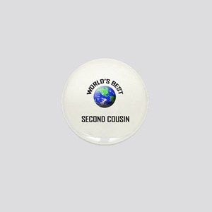 World's Best SECOND COUSIN Mini Button