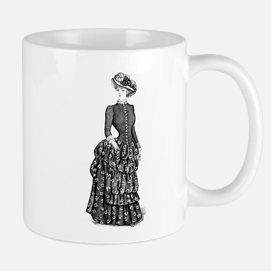 1800s vintage bustle woman Mugs