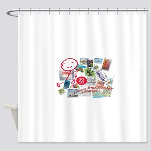 SG50-Singapore's 50th Bday! Shower Curtain