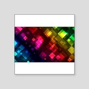 ombre square rainbow Sticker