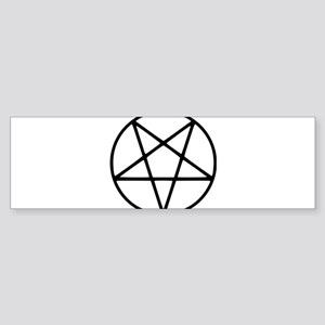 black white pentagram star Bumper Sticker