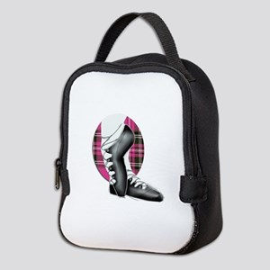 Third Position Hot Pink Tartan Neoprene Lunch Bag
