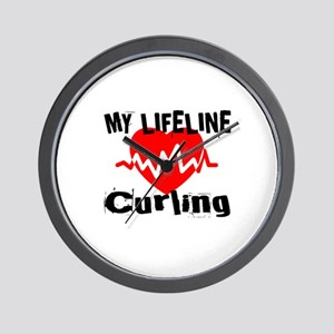 My Life Line Curling Wall Clock