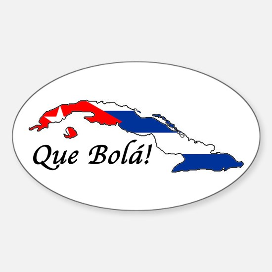 Que Bola! Oval Decal