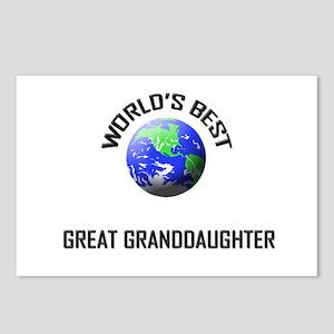 World's Best GREAT GRANDDAUGHTER Postcards (Packag