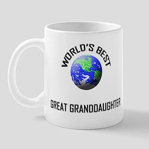 World's Best GREAT GRANDDAUGHTER Mug