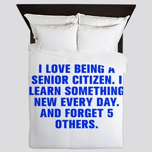 I love being a senior citizen I learn something ne