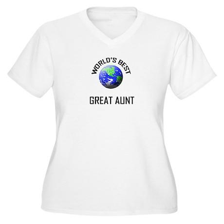 World's Best GREAT AUNT Women's Plus Size V-Neck T