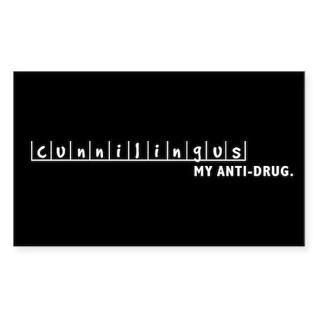 Anti-Drug Rectangle Sticker