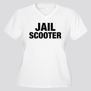 Jail Scooter Women's Plus Size V-Neck T-Shirt