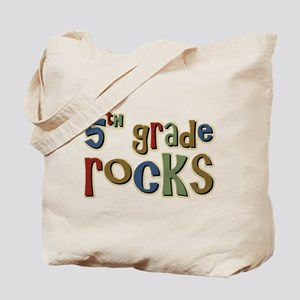 5th Grade Rocks Fifth School Tote Bag