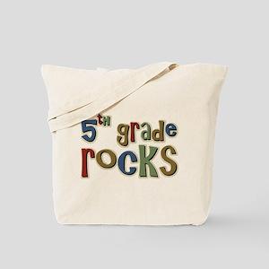 5th Grade Rocks Fifth School Tote Bag