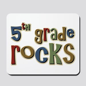 5th Grade Rocks Fifth School Mousepad