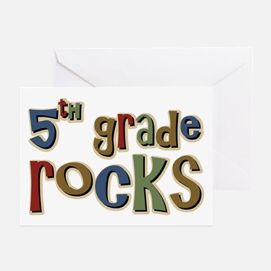 5th Grade Rocks Fifth School Greeting Cards (Packa