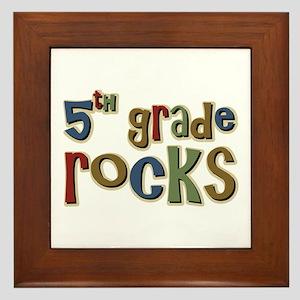 5th Grade Rocks Fifth School Framed Tile
