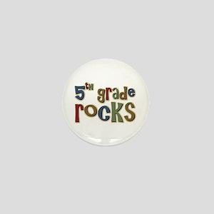 5th Grade Rocks Fifth School Mini Button