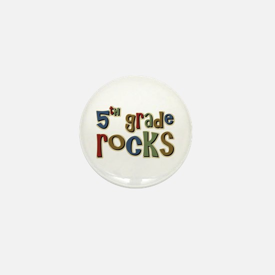 5th Grade Rocks Fifth School Mini Button