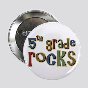 5th Grade Rocks Fifth School Button