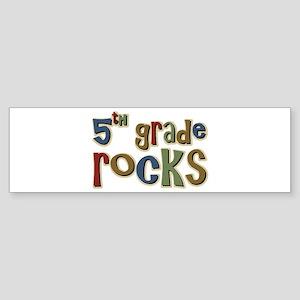 5th Grade Rocks Fifth School Bumper Sticker