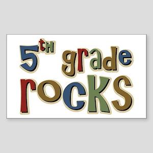 5th Grade Rocks Fifth School Rectangle Sticker
