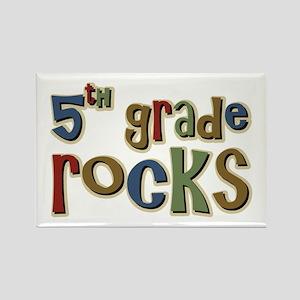 5th Grade Rocks Fifth School Rectangle Magnet
