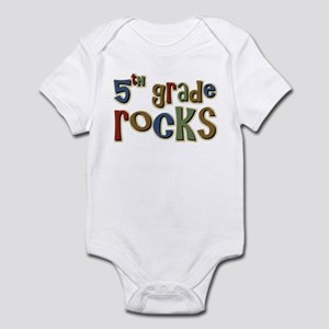 5th Grade Rocks Fifth School Infant Bodysuit