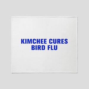Kimchee cures bird flu-Akz blue Throw Blanket