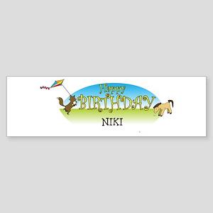 Happy B-Day Niki (farm) Bumper Sticker