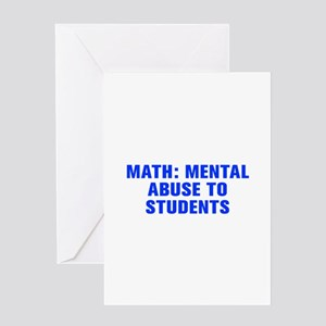Math mental abuse to students-Akz blue Greeting Ca