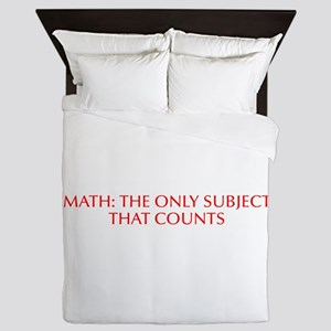 Math the only subject that counts-Opt red Queen Du