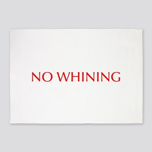 No Whining-Opt red 5'x7'Area Rug