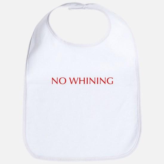 No Whining-Opt red Bib