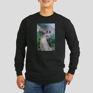 Great Wall Of China Long Sleeve Dark T-Shirt