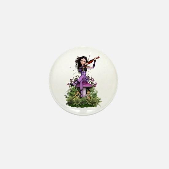 Amethyst Fairy ~ Summer Melody Mini Button
