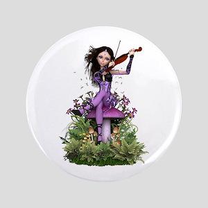 "Amethyst Fairy ~ Summer Melody 3.5"" Button"