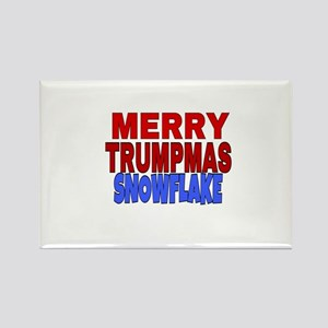 MERRY TRUMPMAS SNOWFLAKE Magnets
