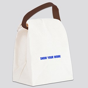 Show your work-Akz blue Canvas Lunch Bag