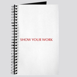 Show your work-Opt red Journal
