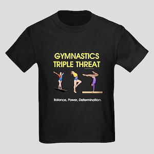 TOP Gymnastics Slogan Kids Dark T-Shirt
