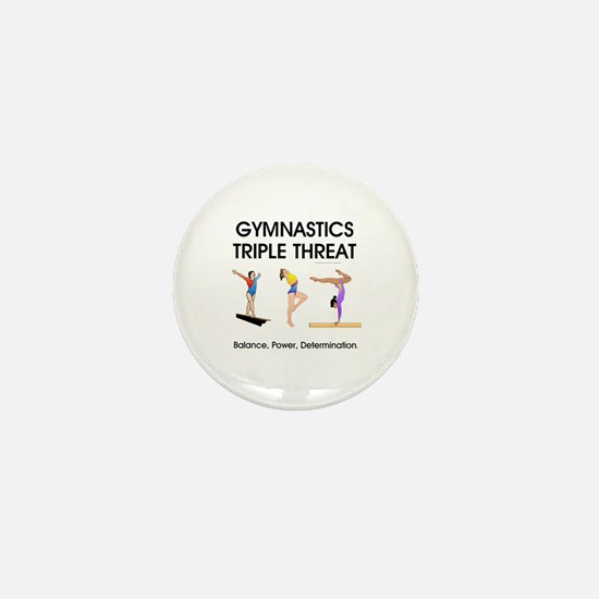 TOP Gymnastics Slogan Mini Button