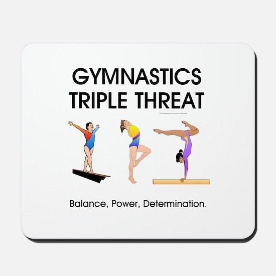 TOP Gymnastics Slogan Mousepad
