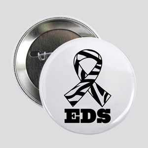 "EDS Awareness Zebra Ribbon 2.25"" Button (10 pack)"