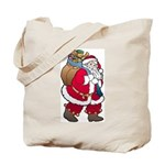 Christmas Art Santa Claus Tote Bag