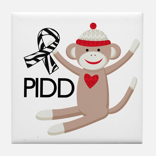 PIDD Awareness monkey Tile Coaster