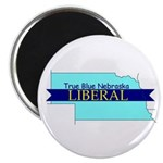 True Blue Nebraska LIBERAL Magnet