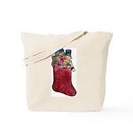Christmas Art Stocking Tote Bag