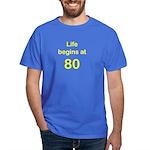 Life Begins at 80 Birthday T-Shirts