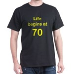 Life Begins at 70 Birthday T-Shirts