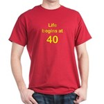 Life Begins at 40 Birthday T-Shirts